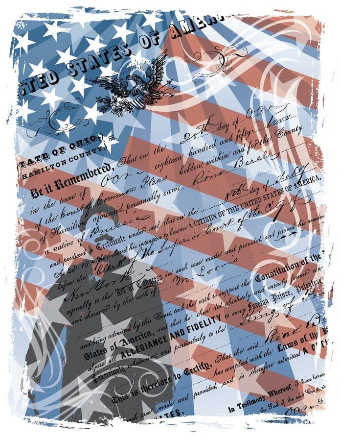 Cidadão americano orgulhoso ilustração royalty free