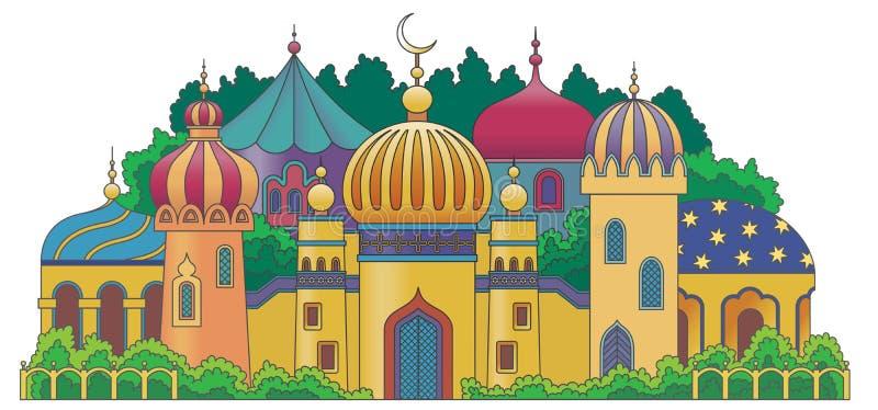 Cidade árabe ilustração stock