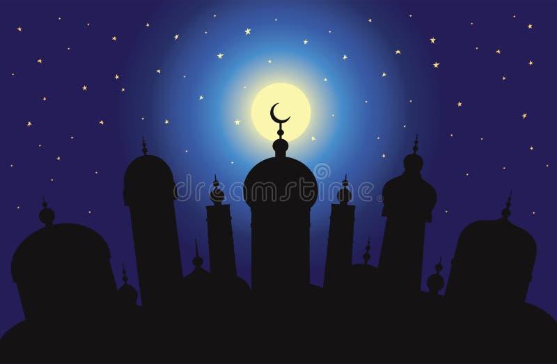 Cidade árabe ilustração royalty free