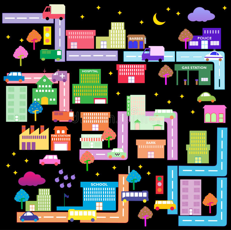 Download Cidade 3 ilustração do vetor. Ilustração de família, ícone - 10060478