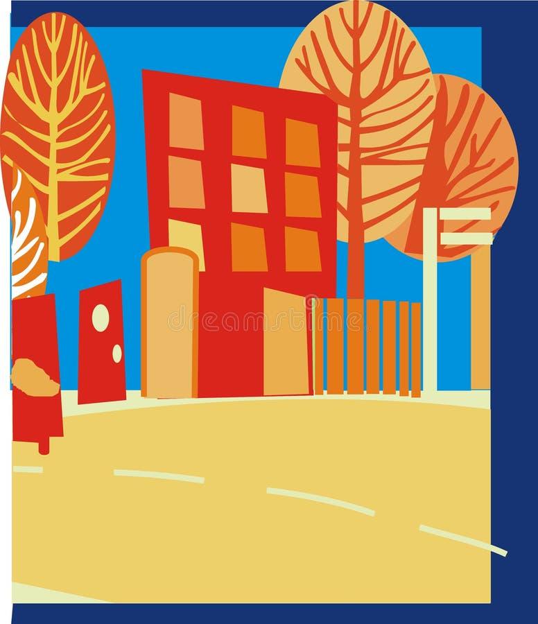 Cidade ilustração do vetor