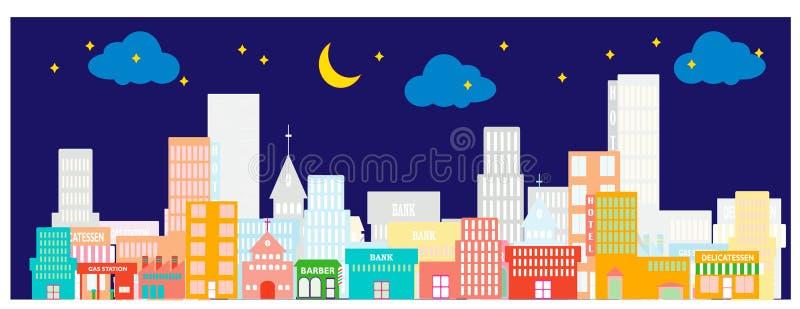 Download Cidade 4 ilustração stock. Ilustração de curso, céu, hospital - 10060483