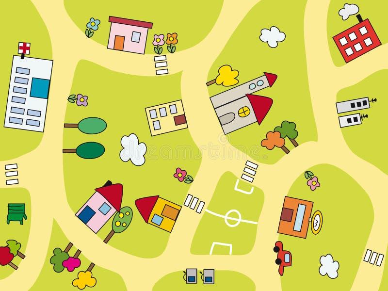 Cidade ilustração stock