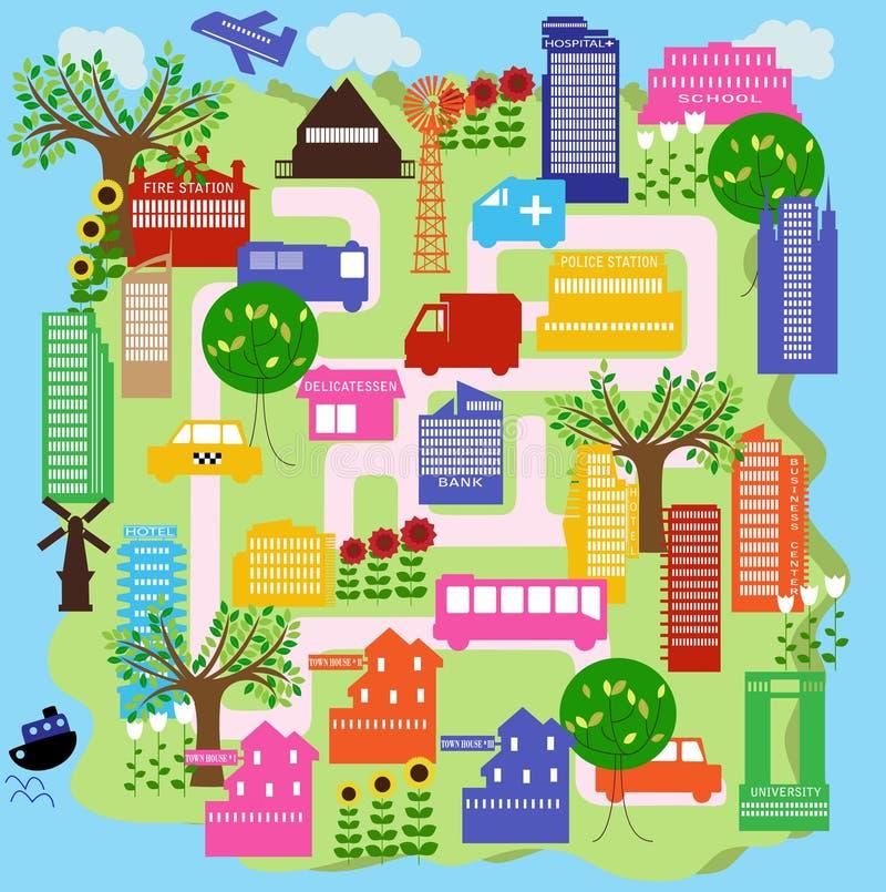 Cidade 9 ilustração do vetor