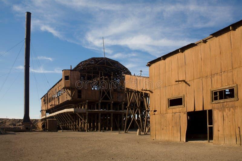 Cidade abandonada - Santa Laura e Humberstone imagens de stock royalty free