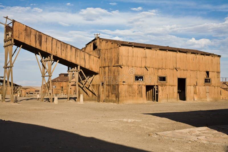 Cidade abandonada - Santa Laura e Humberstone foto de stock