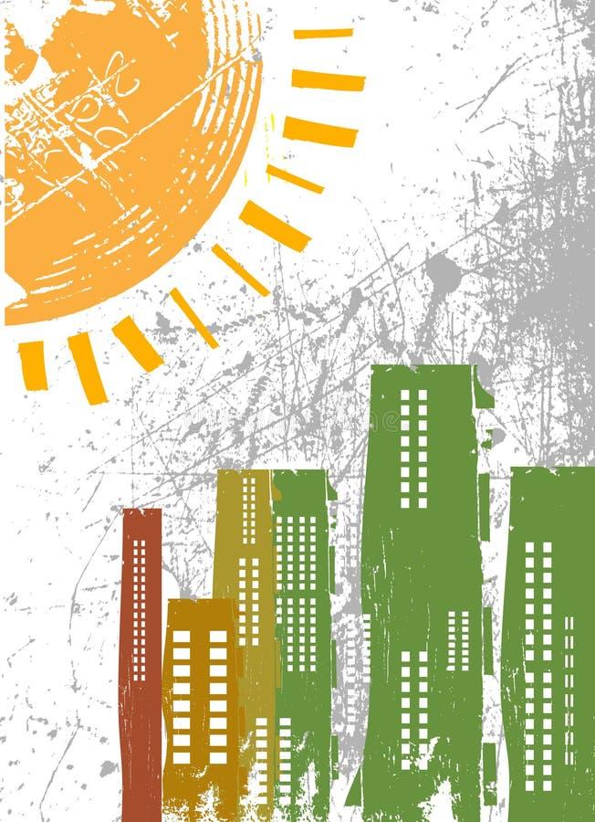 Cidade abstrata ilustração do vetor