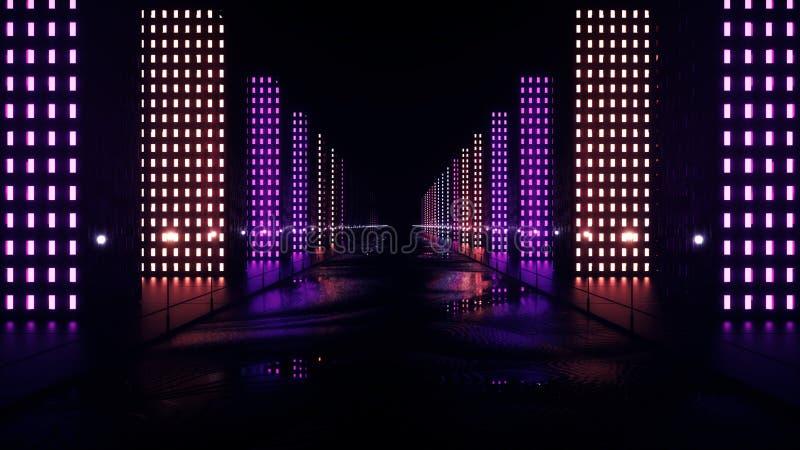 Cidade abstrata da noite ilustração stock