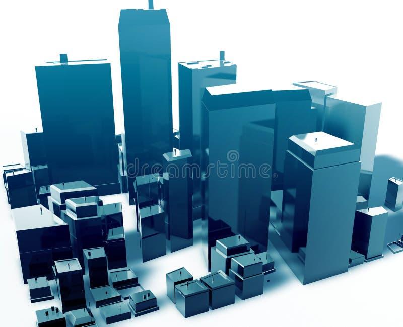 Cidade abstrata moderna ilustração do vetor