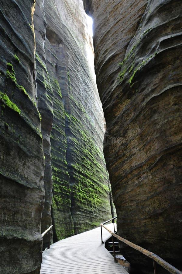 Cidade Adrspach - Teplice da rocha em República Checa foto de stock royalty free