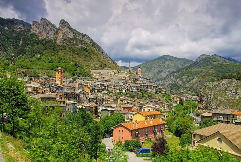 Cidade alpina Tende, França imagem de stock royalty free