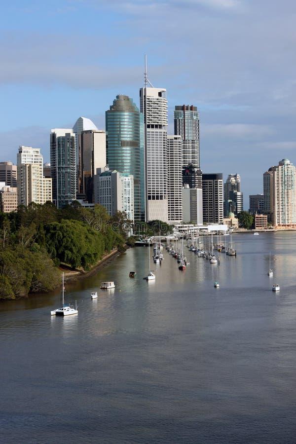 Cidade & rio de Brisbane fotografia de stock