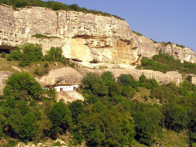 Cidade antiga da caverna imagens de stock royalty free