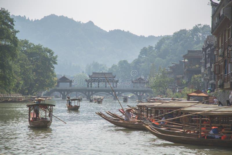 Cidade antiga de Fenghuang imagem de stock royalty free