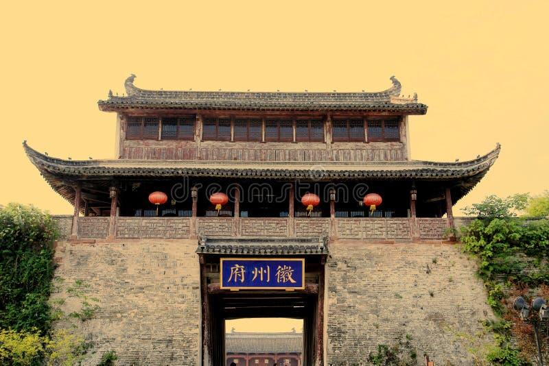 Cidade antiga de Huizhou, Anhui, porcelana fotografia de stock royalty free