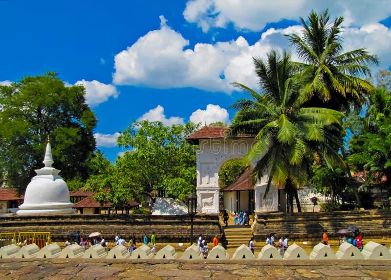 A cidade antiga de Kandy, Sri Lanka imagem de stock
