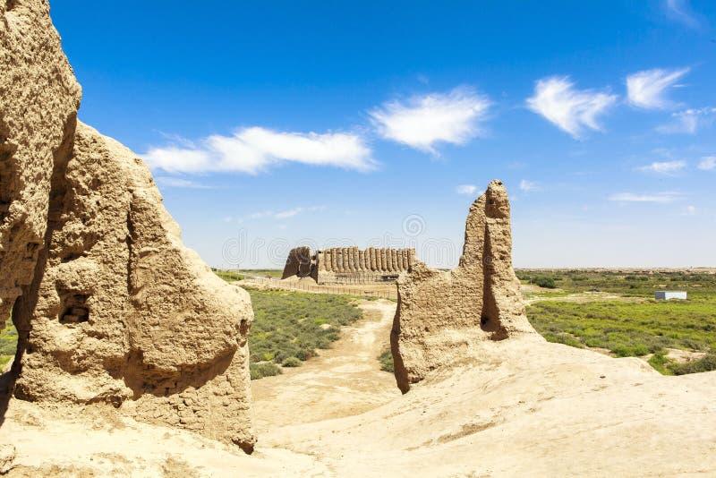 Cidade antiga de Merv em Turquemenistão imagem de stock