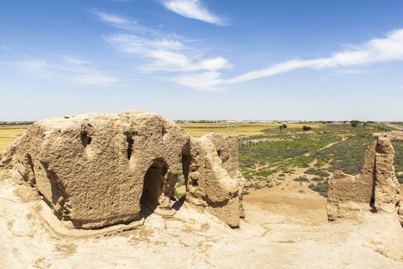 Cidade antiga de Merv em Turquemenistão imagens de stock royalty free