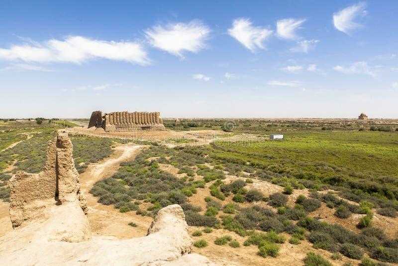 Cidade antiga de Merv em Turquemenistão foto de stock