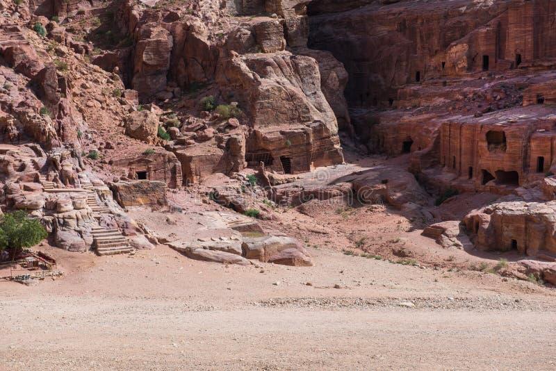 Cidade antiga de PETRA, Jordânia fotos de stock