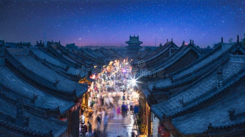 A cidade antiga de Ping Yao fotografia de stock