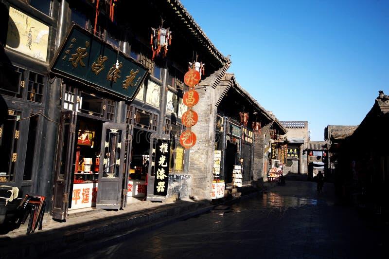 Cidade antiga de Pingyao imagem de stock