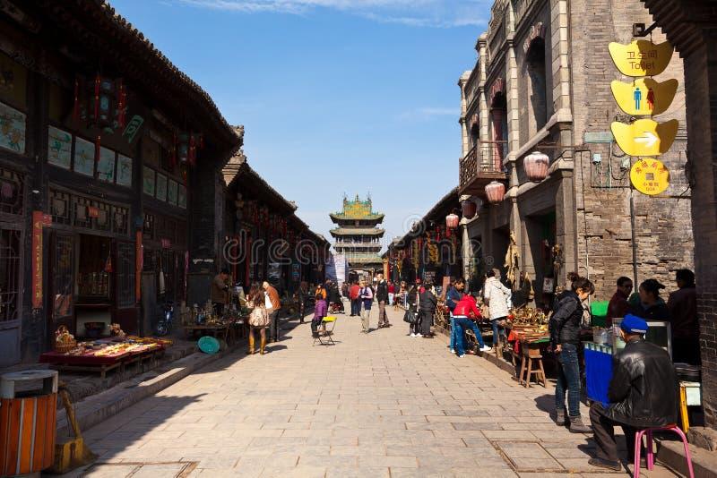 Cidade antiga de Pingyao na porcelana fotografia de stock
