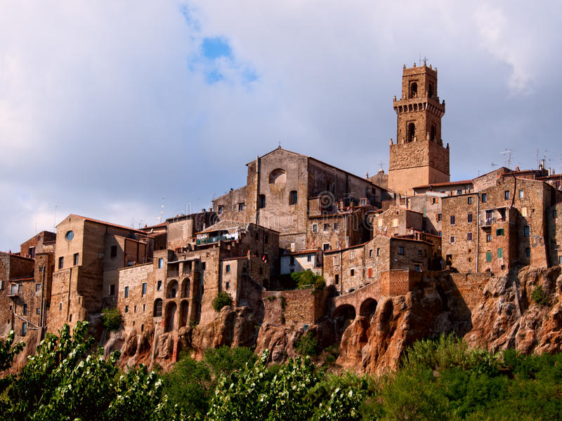 Cidade antiga de Pitigliano. Italy imagens de stock