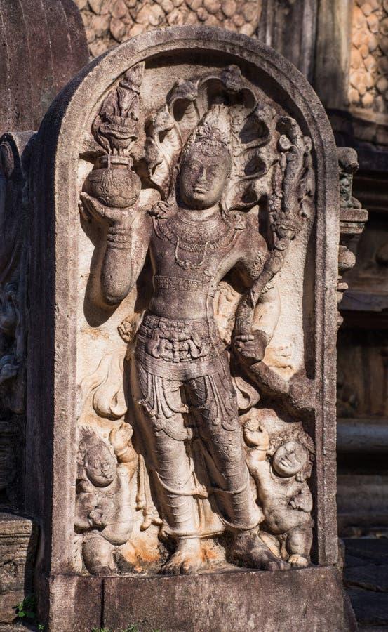 Cidade antiga de Polonnaruwa imagem de stock