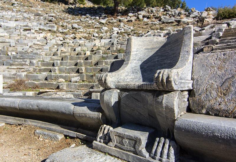 Cidade antiga de Priene fotos de stock