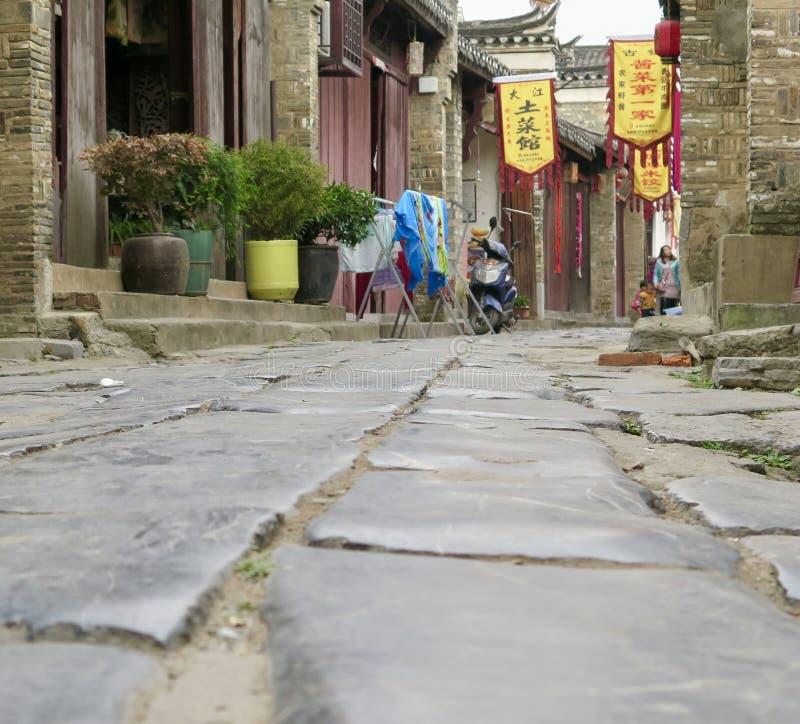 A cidade antiga de Sanhe em China oriental fotos de stock