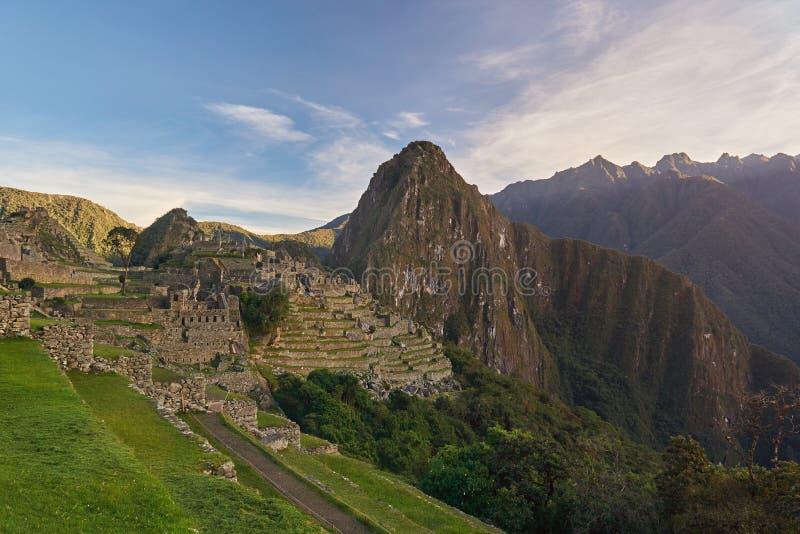 Cidade antiga do picchu do machu do Inca fotografia de stock royalty free