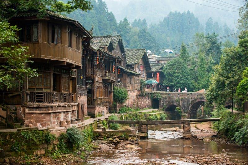 Cidade antiga do ` s de China foto de stock