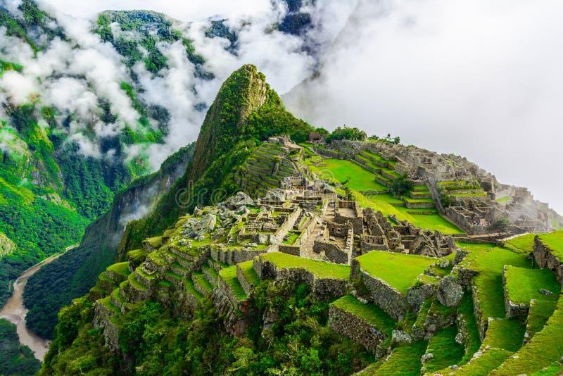 Cidade antiga dos incas de Machu Picchu peru imagem de stock royalty free