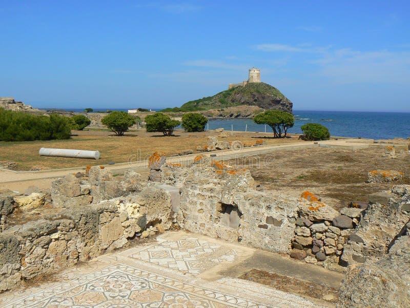 Cidade antiga dos Pula, Sardinia foto de stock royalty free