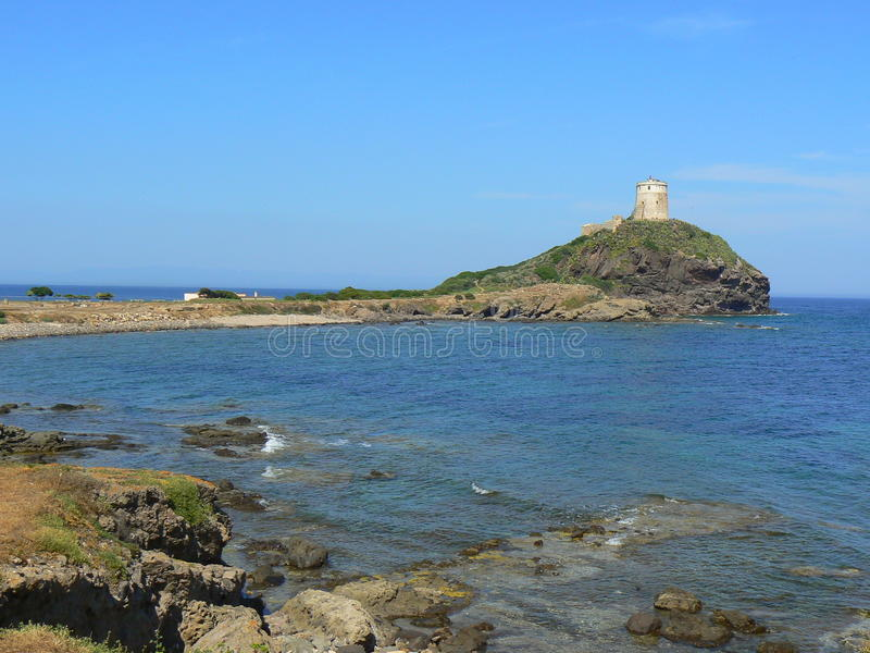Cidade antiga dos Pula, Sardinia imagens de stock royalty free