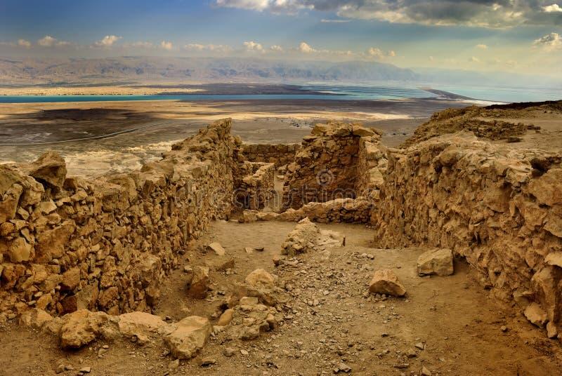Cidade antiga Masada imagens de stock