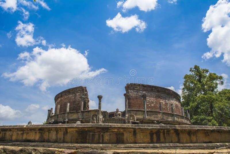 Cidade antiga Medirigiriya Vatadage Sri Lanka de Polonnaruwa fotografia de stock