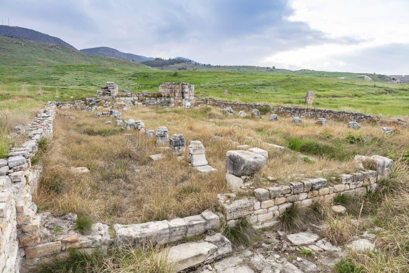 Cidade antiga Pamukkale Turquia de Hierapolis imagem de stock