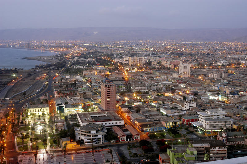 Cidade Arica, o Chile fotos de stock