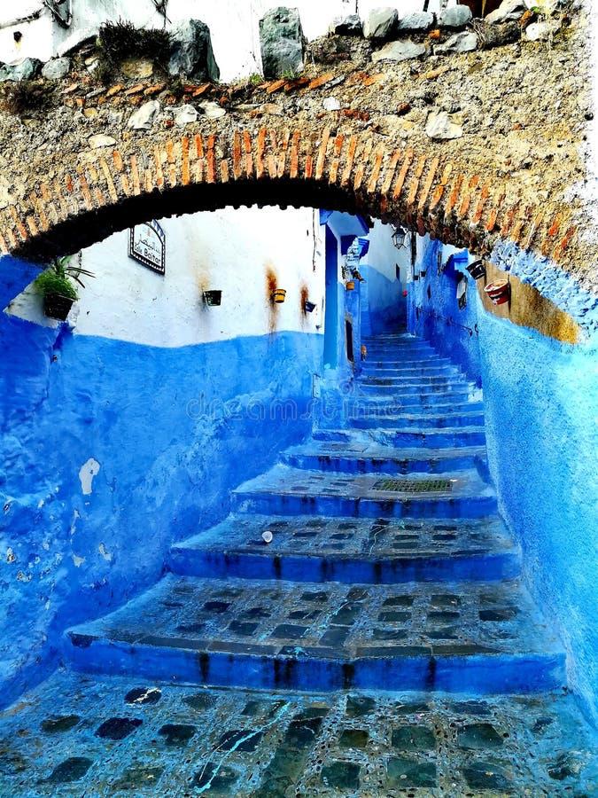 Cidade azul imagens de stock