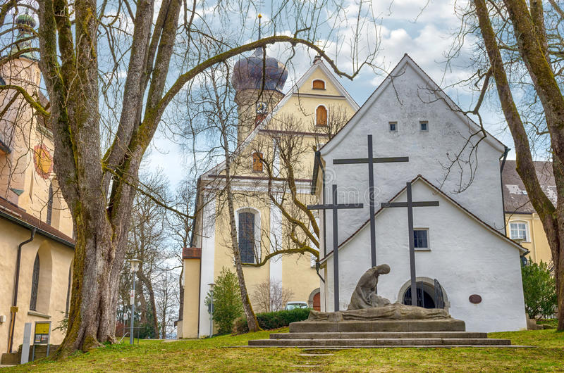 Cidade bávara Isny im Allgau fotos de stock royalty free