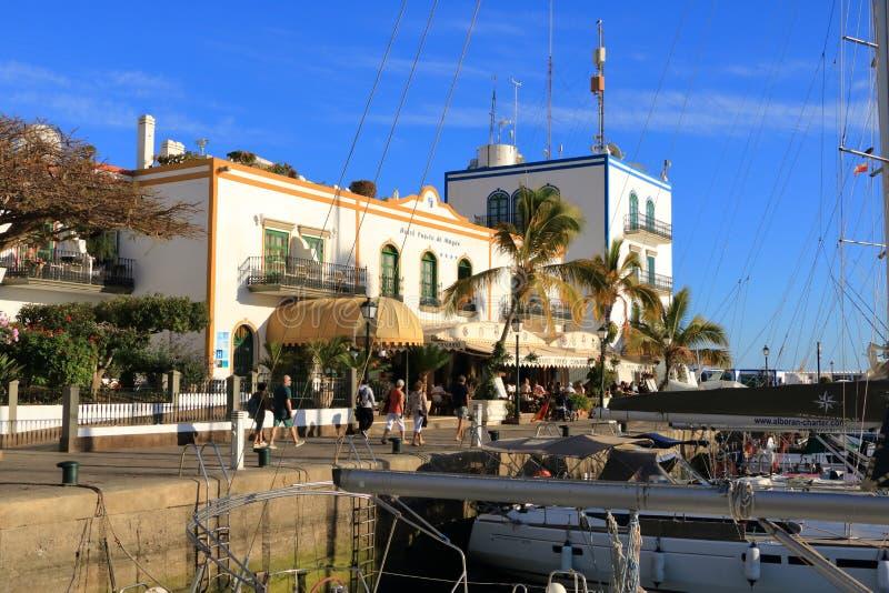 Cidade bonita Puerto Mogan em Gran Canaria, Espanha fotografia de stock