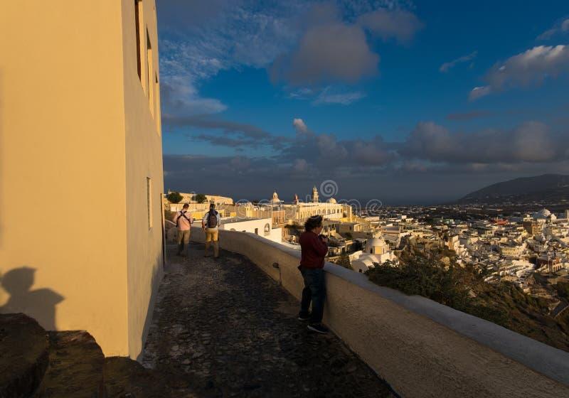 Cidade branca A ilha de Santorini Greece fotografia de stock royalty free