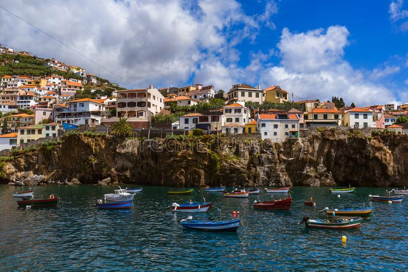 Cidade Camara de Lobos - Madeira Portugal imagens de stock royalty free