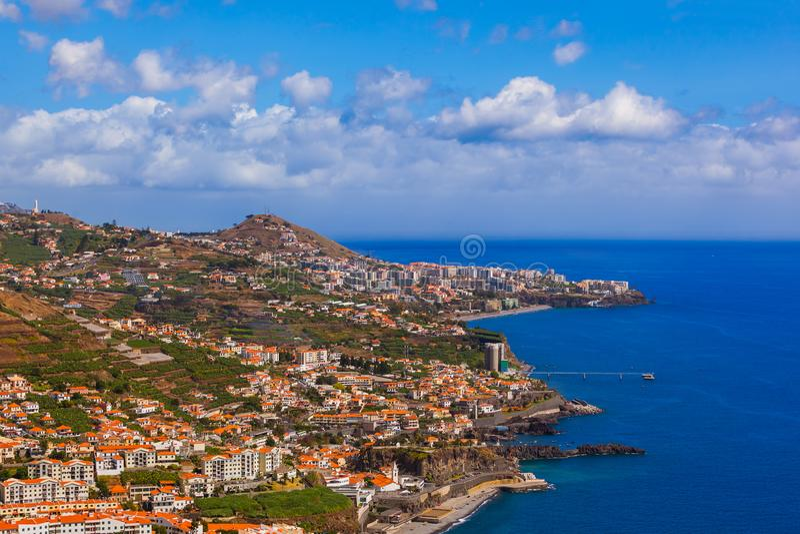 Cidade Camara de Lobos - Madeira Portugal fotos de stock royalty free