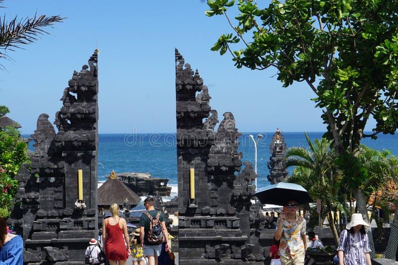 Cidade Canggu de Indon?sia Bali templo Pura Tanah Lot o 20 de maio de 2019 foto de stock
