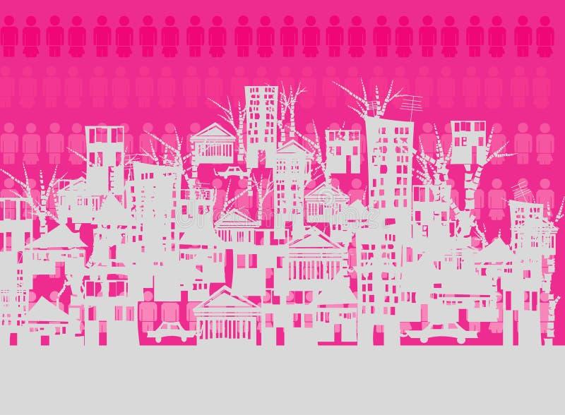 Cidade cantada ilustração royalty free