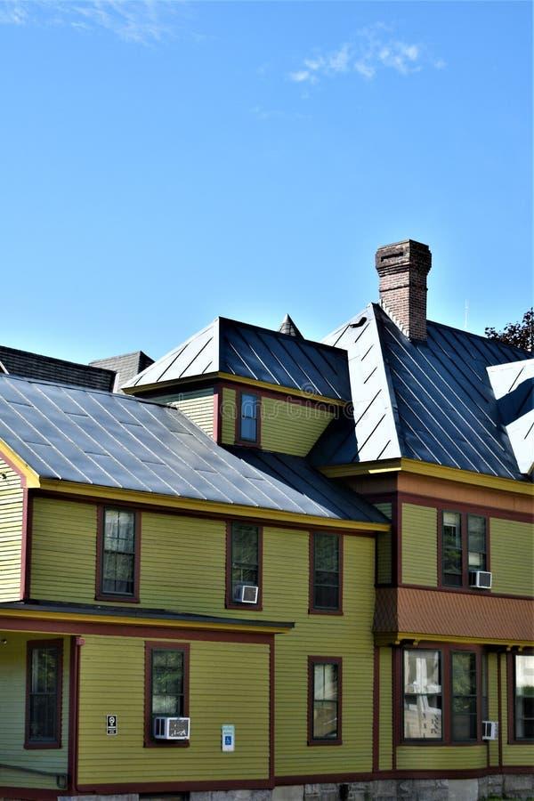 Cidade capital de estado de Montpelier, Vermont, Washington County, Vermont, Estados Unidos E.U. imagens de stock royalty free