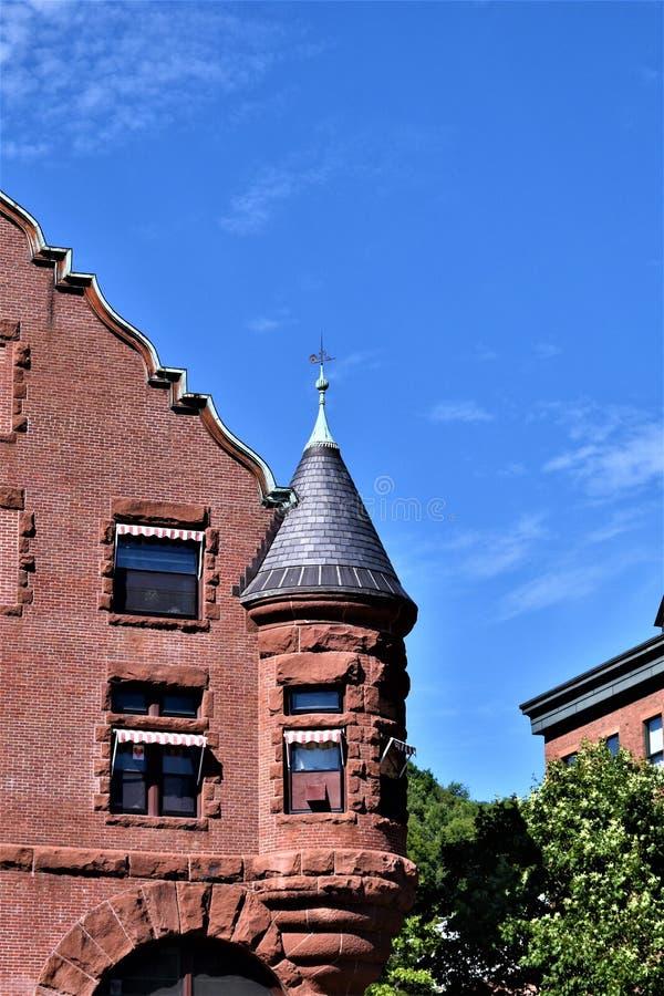 Cidade capital de estado de Montpelier, Vermont, Washington County, Vermont, Estados Unidos E.U. fotos de stock